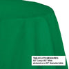 "Emerald Green Tablecover, Octy Round 82"" Polylined Tissue Party Decoration"