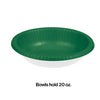 Emerald Green Paper Bowls 20 Oz., 20 ct Party Decoration