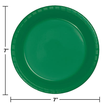 Emerald Green Plastic Dessert Plates, 20 ct Party Decoration