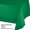 "Emerald Green Tablecover Plastic 54"" X 108"" Party Decoration"
