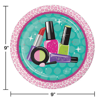 Sparkle Spa Party Icon Paper Plates, 8 ct Party Decoration