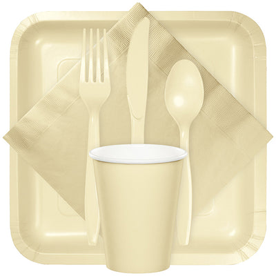 Ivory Assorted Plastic Cutlery, 24 ct Party Supplies