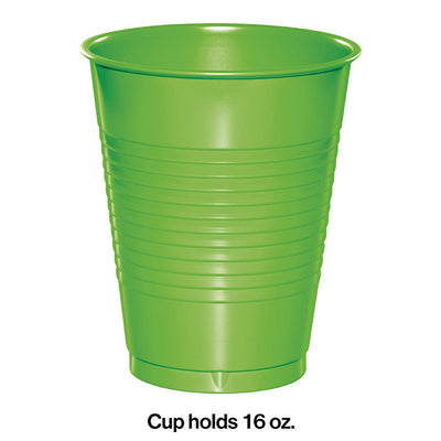 Fresh Lime Green Plastic Cups, 20 ct Party Decoration