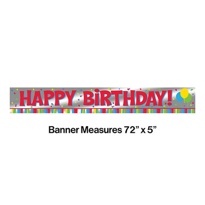 Banner Foil 6' Hpy Bday Party Decoration