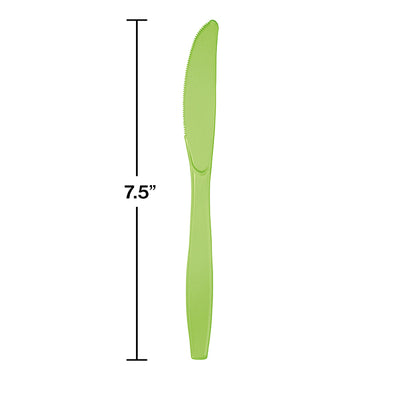 Fresh Lime Green Plastic Knives, 50 ct Party Decoration