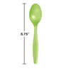 Fresh Lime Green Plastic Spoons, 50 ct Party Decoration