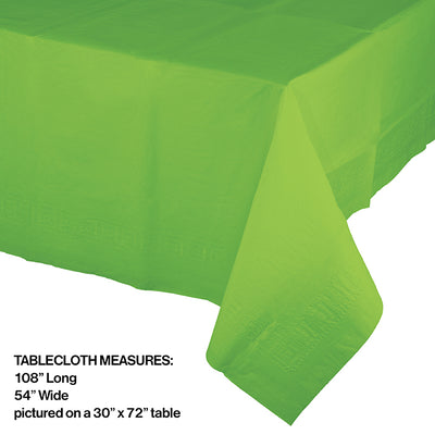 "Fresh Lime Tablecover 54""X 108"" Polylined Tissue Party Decoration"