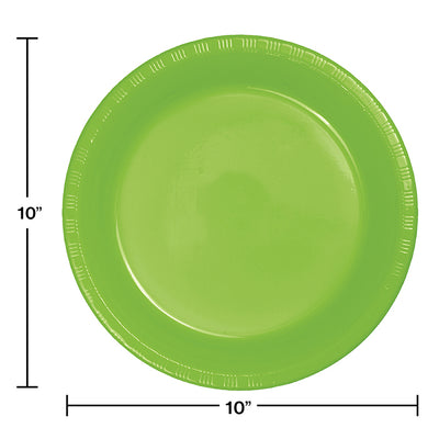 Fresh Lime Green Plastic Banquet Plates, 20 ct Party Decoration