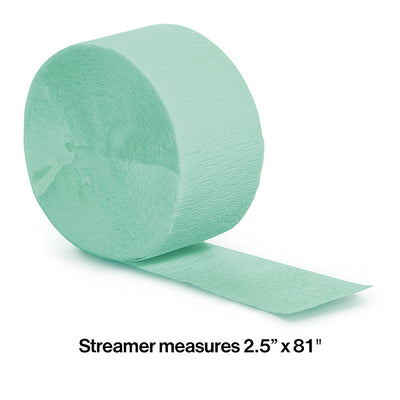 Fresh Mint Crepe Streamers 81' Party Decoration