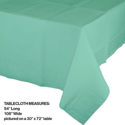 "Fresh Mint Tablecover 54""X 108"" Polylined Tissue Party Decoration"