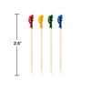 "Wooden Picks Frill, 2.5"", 100 ct Party Decoration"