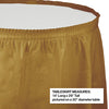 "Glittering Gold Plastic Tableskirt, 14' X 29"" Party Decoration"