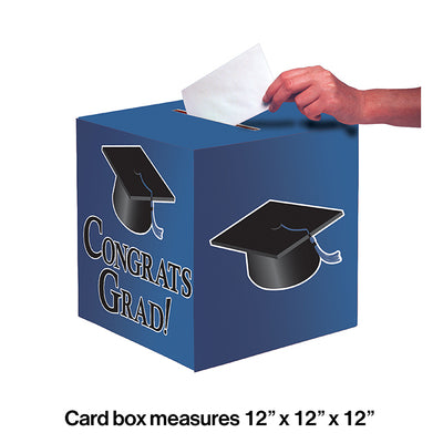 Blue Graduation Card Box Party Decoration