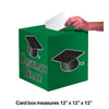 "Graduation Card Box, Grad, 9"" Green Party Decoration"