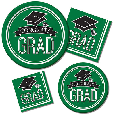 Graduation School Spirit Green Napkins, 36 ct Party Supplies