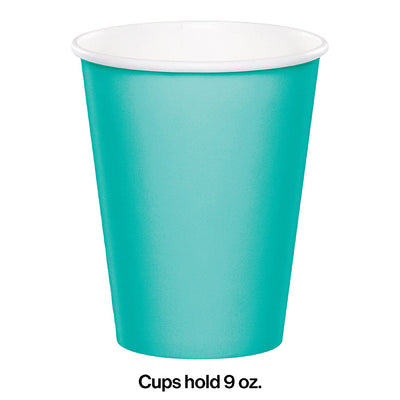 Teal Lagoon Hot/Cold Paper Paper Cups 9 Oz., 24 ct Party Decoration