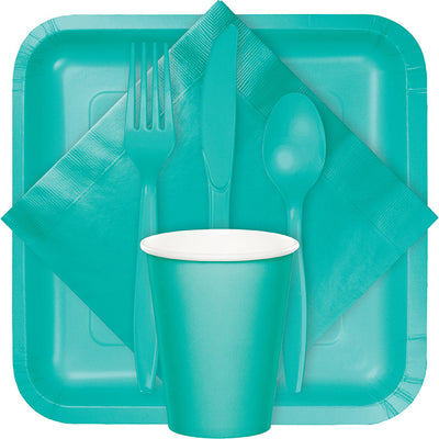 Teal Lagoon Hot/Cold Paper Paper Cups 9 Oz., 24 ct Party Supplies