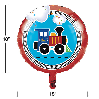 "All Aboard Metallic Balloon 18"" Party Decoration"