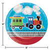 All Aboard Train Paper Plates, 8 ct Party Decoration