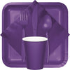 Amethyst Purple Assorted Plastic Cutlery, 24 ct Party Supplies