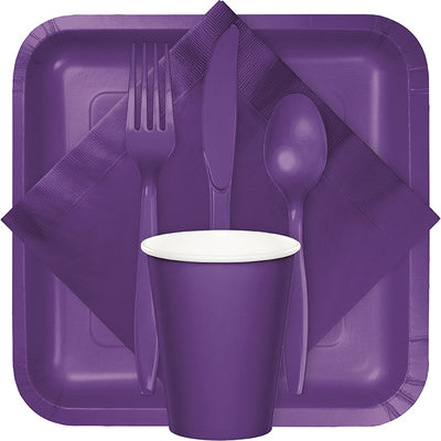 Amethyst Purple Plastic Knives, 50 ct Party Supplies