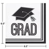 Graduation School Spirit White Napkins, 36 ct Party Decoration