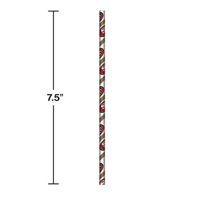 San Francisco 49Ers Paper Straws, 24 ct Party Decoration