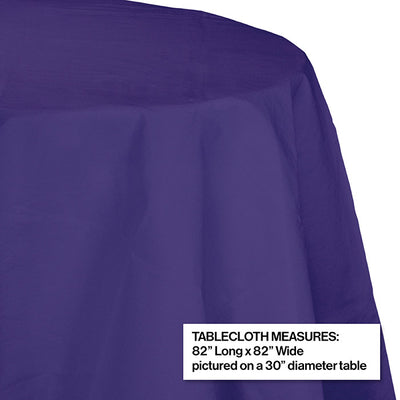 "Purple Tablecover, Octy Round 82"" Polylined Tissue Party Decoration"