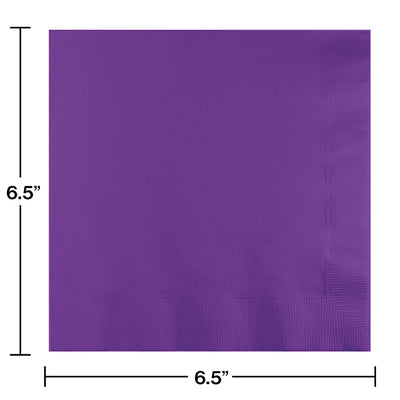 Amethyst Luncheon Napkin 3Ply, 50 ct Party Decoration