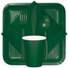 Hunter Green Assorted Plastic Cutlery, 24 ct Party Supplies