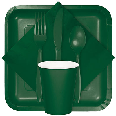 Hunter Green Plastic Spoons, 24 ct Party Supplies