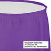 "Amethyst Plastic Tableskirt, 14' X 29"" Party Decoration"