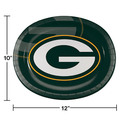 "Green Bay Packers Oval Platter 10"" X 12"", 8 ct Party Decoration"