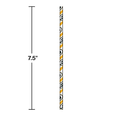 Green Bay Packers Paper Straws, 24 ct Party Decoration