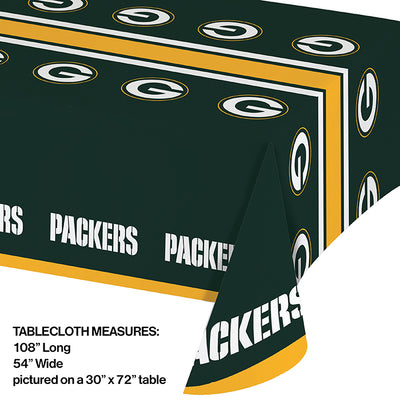 "Green Bay Packers Plastic Tablecloth, 54"" X 108"" Party Decoration"
