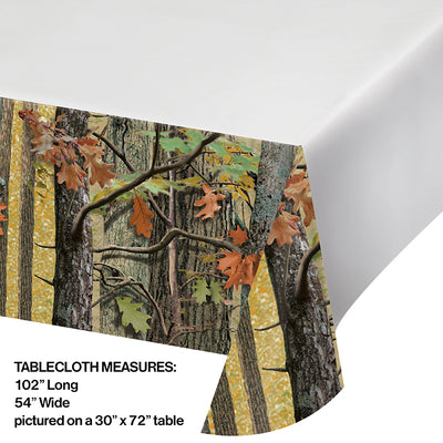 "Hunting Camo Tablecover Plastic 54"" X 102"" Party Decoration"