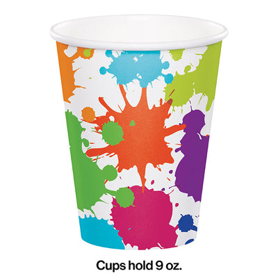 Art Party Hot/Cold Paper Cups 9 Oz., 8 ct Party Decoration