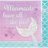 Iridescent Mermaid All The Fun Napkins, 16 ct by Creative Converting