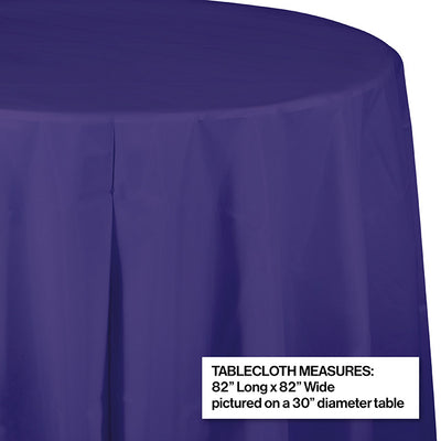 "Purple Tablecover, Octy Round 82"" Plastic Party Decoration"