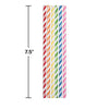 Assorted Color Paper Straws, 24 ct Party Decoration