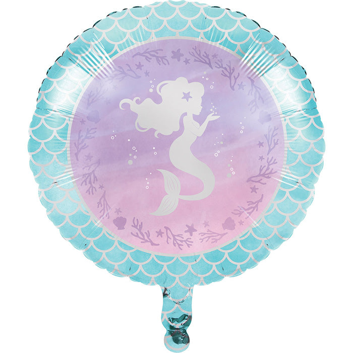 "Mermaid Shine Metallic Balloon 18"" by Creative Converting"