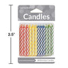 Assorted Primary Color Candles, 24 ct Party Decoration
