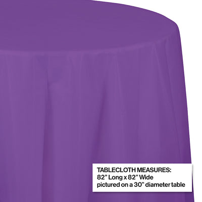 "Amethyst Tablecover, Octy Round 82"" Plastic Party Decoration"