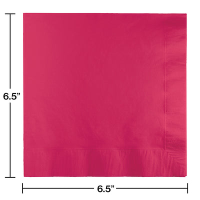 Hot Magenta Luncheon Napkin 2Ply, 50 ct Party Decoration