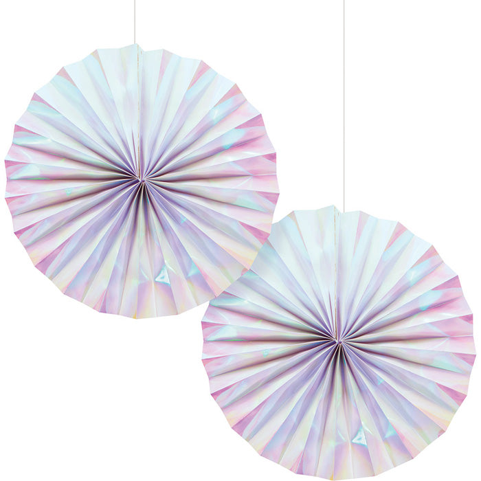 Iridescent Party Paper Fans, 2 ct by Creative Converting