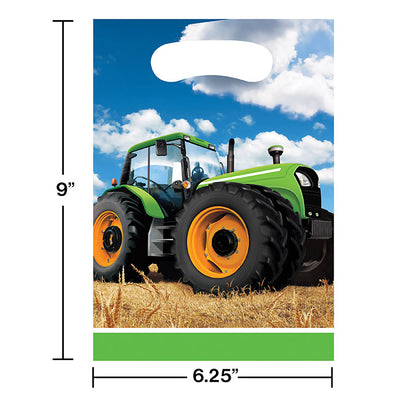 Tractor Time Favor Bags, 8 ct Party Decoration