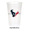 Houston Texans Plastic Cup, 20Oz, 8 ct Party Decoration