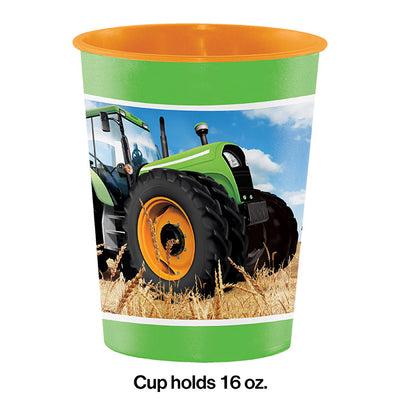 Tractor Time Plastic Keepsake Cup 16 Oz. Party Decoration