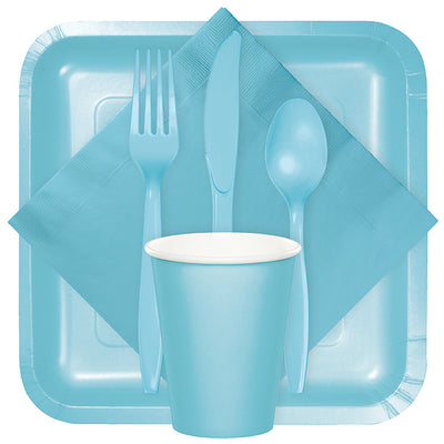 Pastel Blue Plastic Spoons, 50 ct Party Supplies