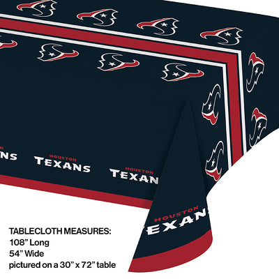 "Houston Texans Plastic Tablecloth, 54"" X 108"" Party Decoration"